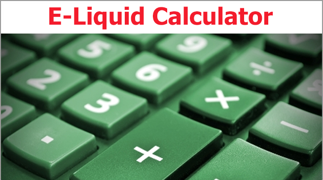 E-Liquid recipe calculator for DIY mixing
