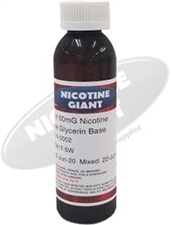 120 ml of 100 mg Flavorless Nicotine Liquid