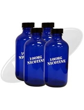 1,440 ml of 100 mg Flavorless Nicotine Liquid in 12 - 120ml Cobalt Blue Bottles (Ready to Freeze)