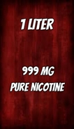 1000 ml of 99.99% Pure Liquid Nicotine