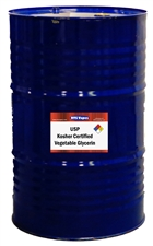 55 US Gallon Drum of USP Kosher Certified Vegetable Glycerin (Palm Based)