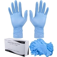 One (1) Box of Industrial Powder Free Nitrile Gloves - Small